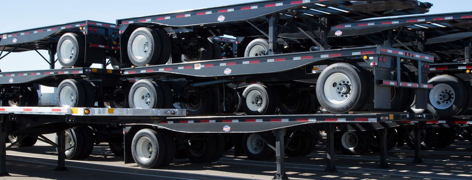 Stacked Utility Flatbed Trailers